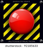 red alarm shiny button... | Shutterstock .eps vector #92185633