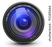 camera photo lens  vector. | Shutterstock .eps vector #92185666