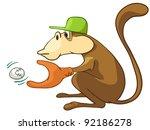 cartoon character monkey... | Shutterstock .eps vector #92186278