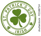 """stamp """"st. patrick's day""""   Shutterstock .eps vector #92188714"""