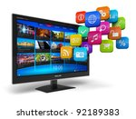 internet television concept ... | Shutterstock . vector #92189383