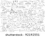 background with hand written...   Shutterstock . vector #92192551