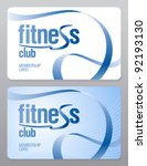 fitness club membership card... | Shutterstock .eps vector #92193130