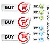 vector shopping cart item   buy ...   Shutterstock .eps vector #92193283