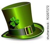 illustration  green st. patrick'... | Shutterstock .eps vector #92207272