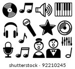 audio and music icons