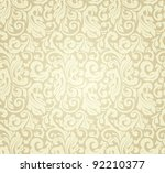 yellow pattern seamless  vector | Shutterstock .eps vector #92210377