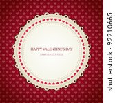 valentines day vintage card... | Shutterstock .eps vector #92210665
