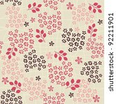 seamless retro floral background | Shutterstock .eps vector #92211901