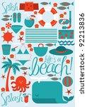 beach vector vector illustration | Shutterstock .eps vector #92213836