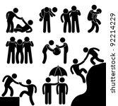 business friend helping each... | Shutterstock .eps vector #92214229