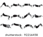 Isolated Black Ribbons On Whit...