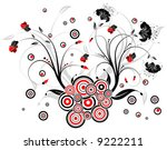 flower background with circle ... | Shutterstock .eps vector #9222211