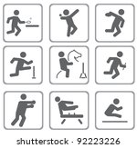 set of sport icons. vector... | Shutterstock .eps vector #92223226