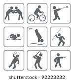 set of sport icons. vector... | Shutterstock .eps vector #92223232