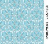 seamless damask trendy color...   Shutterstock .eps vector #92224318