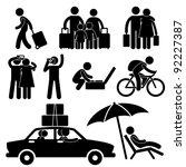 family couple tourist travel... | Shutterstock .eps vector #92227387