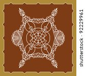 folk motif design wall painting | Shutterstock .eps vector #92229961