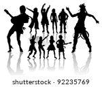 vector silhouettes handmade ...   Shutterstock .eps vector #92235769