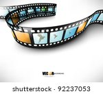 eps10 vector 3d film strip... | Shutterstock .eps vector #92237053