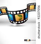eps10 vector 3d film strip... | Shutterstock .eps vector #92237056