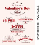 valentine's day type text... | Shutterstock .eps vector #92240218