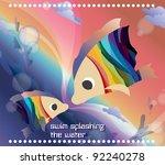 beautifully fantastic seascape... | Shutterstock .eps vector #92240278