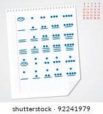 mayan number system vector... | Shutterstock .eps vector #92241979