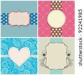 retro greeting cards set   Shutterstock .eps vector #92241985