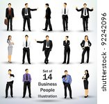 collection of business people... | Shutterstock .eps vector #92242096