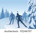 biathlon runners  vector...   Shutterstock .eps vector #92246707