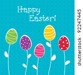 bright easter card | Shutterstock .eps vector #92247445