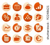 banking stickers | Shutterstock .eps vector #92248621