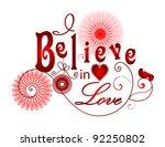 I Believe In Love Vector