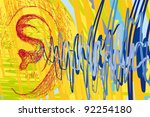 ear and sound waves   Shutterstock .eps vector #92254180