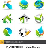 collection of abstract vector... | Shutterstock .eps vector #92256727