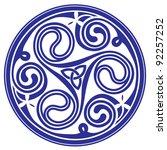 celtic circle ornament   Shutterstock .eps vector #92257252