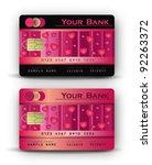 credit card love heart pink | Shutterstock .eps vector #92263372
