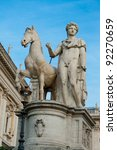 Statue at Campidoglio, Rome, Italy. - stock photo