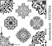 set of elements for design on... | Shutterstock .eps vector #92273026