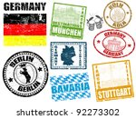 set of grunge stamps with... | Shutterstock .eps vector #92273302