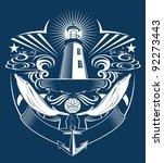 lighthouse crest | Shutterstock .eps vector #92273443