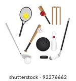 sports elements isolated over... | Shutterstock .eps vector #92276662