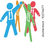 business people team up join... | Shutterstock . vector #92276677
