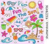 summer fun psychedelic groovy... | Shutterstock .eps vector #92278456