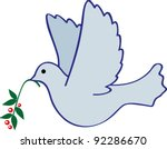 illustration of a flying pigeon ... | Shutterstock .eps vector #92286670