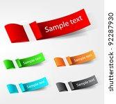 vector tag label.   Shutterstock .eps vector #92287930