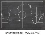 strategy or tactic plan of a...   Shutterstock . vector #92288743
