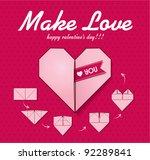 make love   Shutterstock .eps vector #92289841