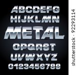 vector set of silver metallic... | Shutterstock .eps vector #92293114